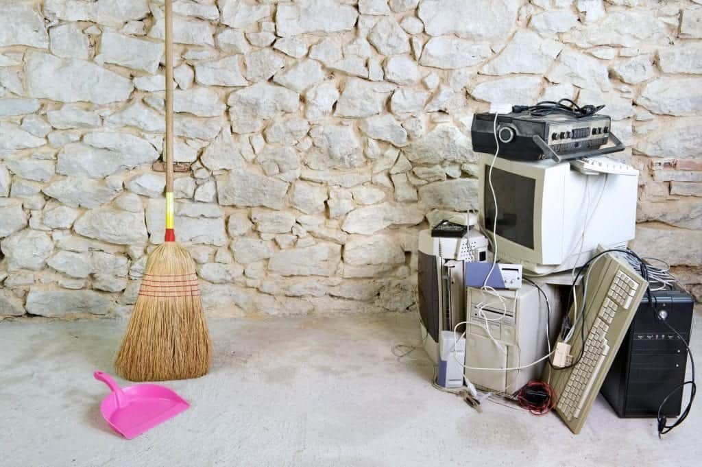 E-waste Recycling gets rid of old computer equipment