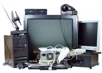 Large and small TVs are recycled at CORRecycling, Inc.