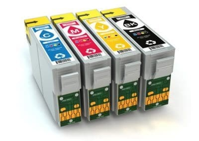 Toner and cmyk cartridges for inkjet printer
