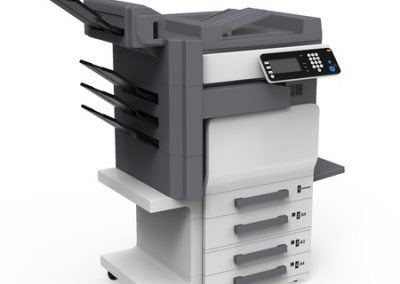 large office multifunction printers, copiers and fax machines.
