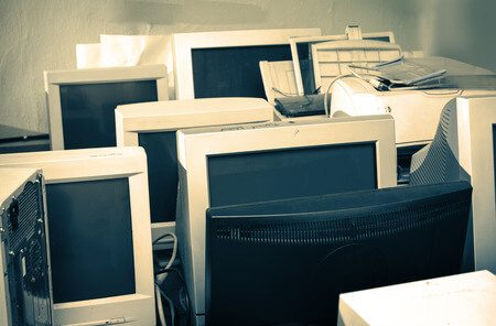 CRT and tube monitors for recycling